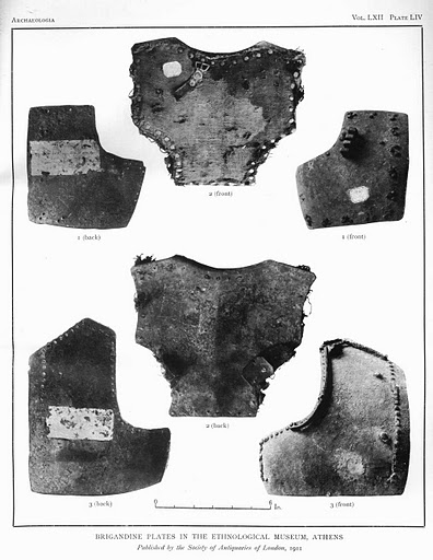 Brigandine plates in the ethnological museum, Athens.jpg