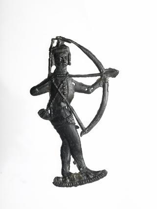 Pewter badge of an archer, late 14th century 1366-1400 Londýnský muzeum.jpg